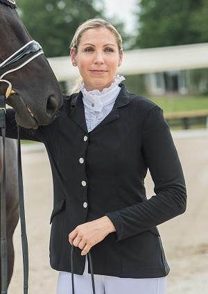 FITS Ruffles Show Shirt is beautiful for dressage
