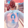 Look At Her Now Blue Crew Neck