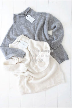 LOOSE JUMPER OFFWHITE