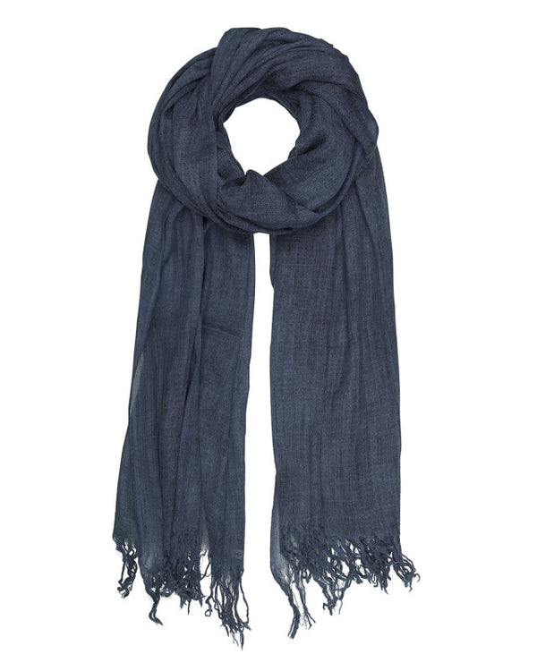BASIC WOOL SCARF NAVY