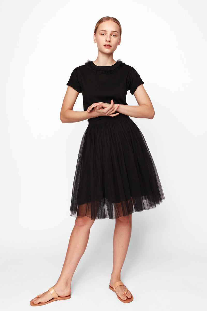 MIDI TULLE SKIRT BLACK