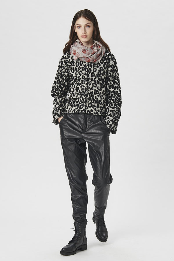 JACKET LEOPARD WOOL