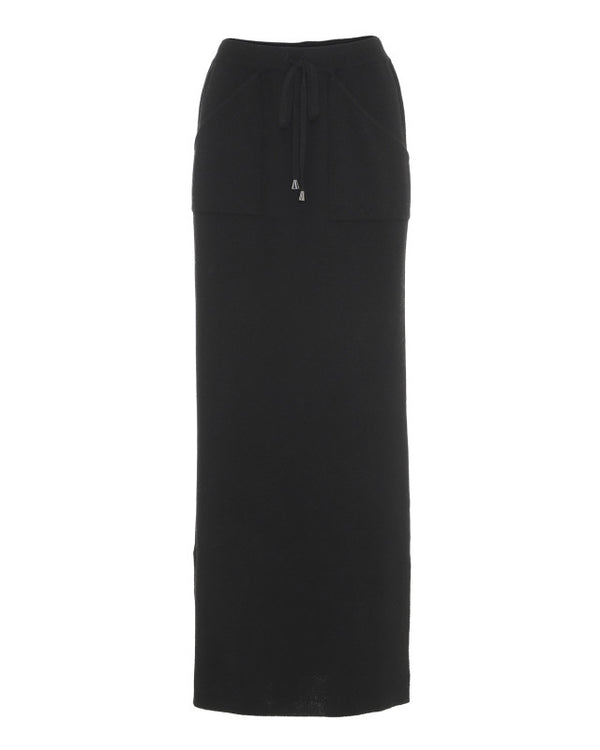 CAROLA LONG SKIRT BLACK