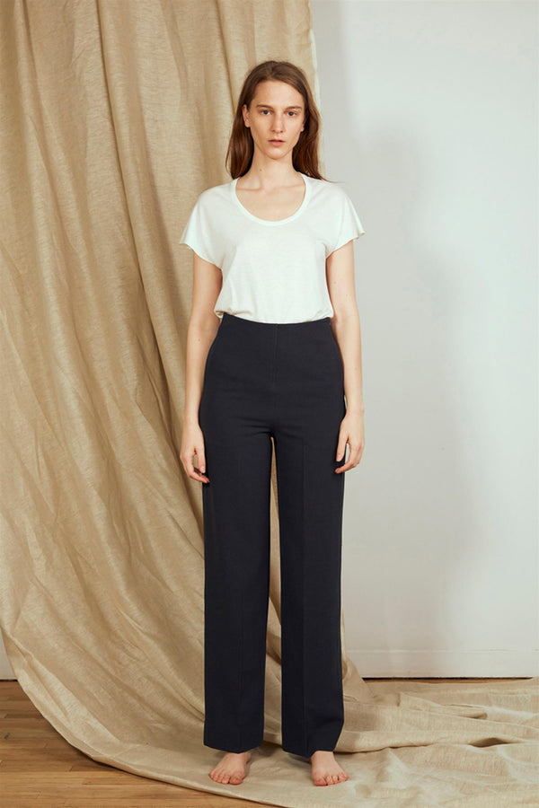 HIGH WAIST PANTS BLACK