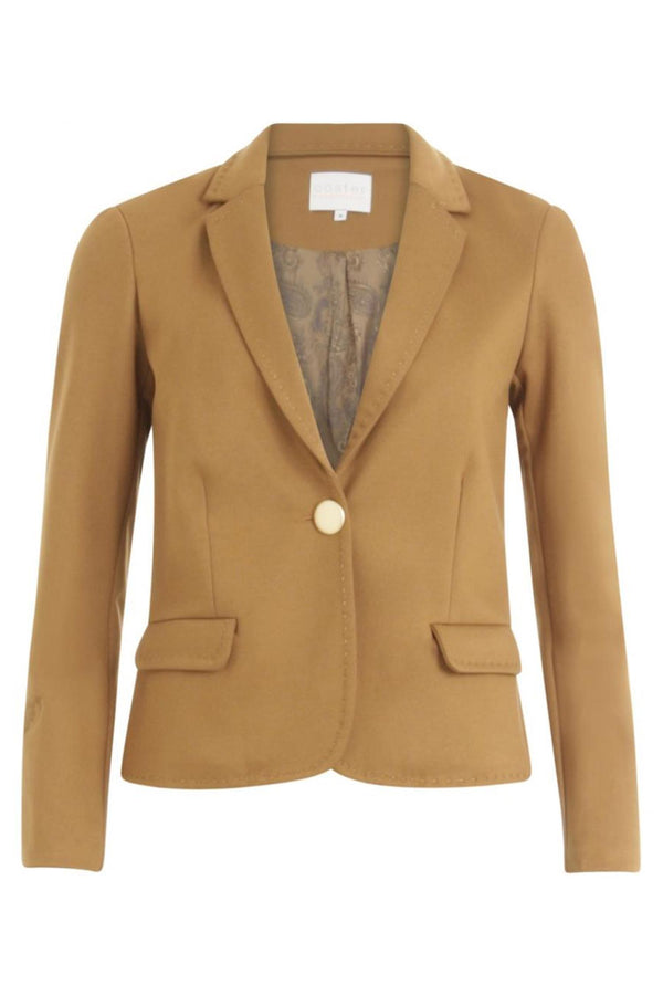 SUIT JACKET CASHEW