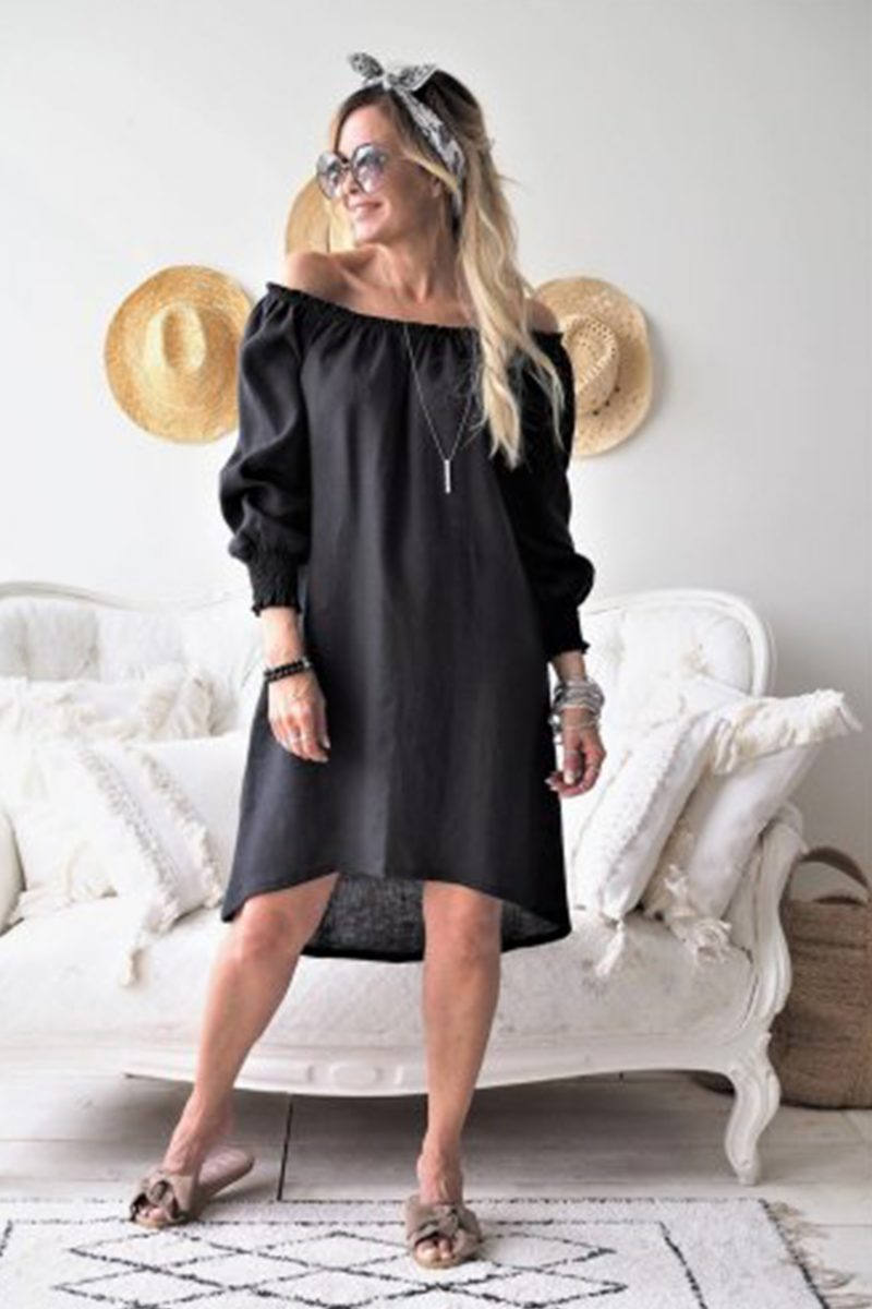OSTUNI DRESS BLACK