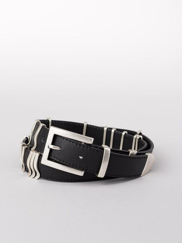 RATTLE BELT BLACK/SILVER