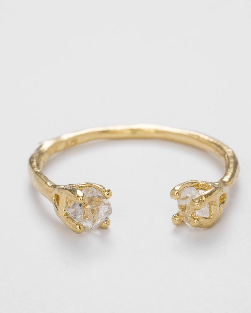 THE HERKIMER CLAW RING GOLD