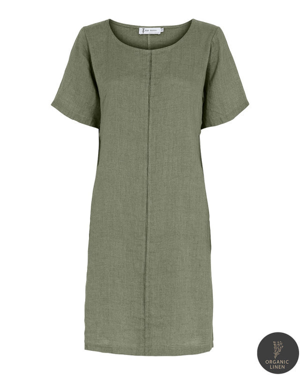 NELLY DRESS OILGREEN