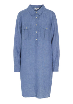 SAVANNA SHIRT DRESS LIGHT BLUE