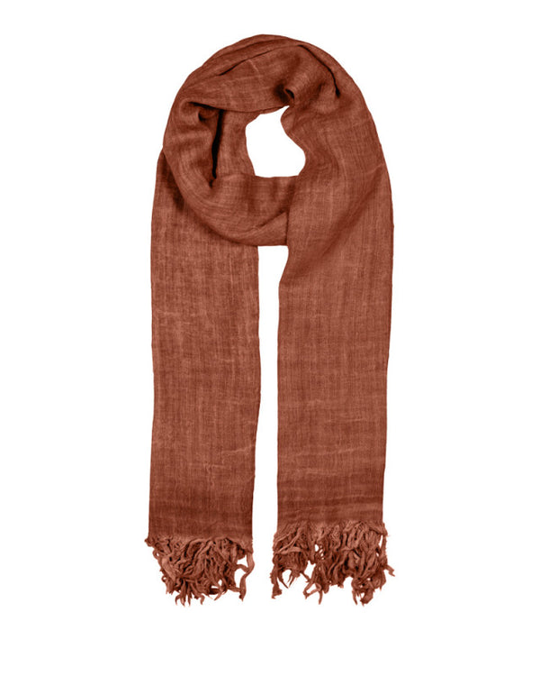 BASIC WOOL SCARF ALMOND