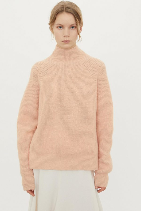 RIBBED KNIT SWEATHER