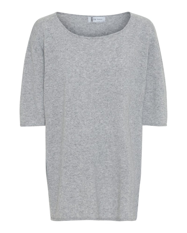 CAROLA SHORT SLEEVE LIGHT GREY