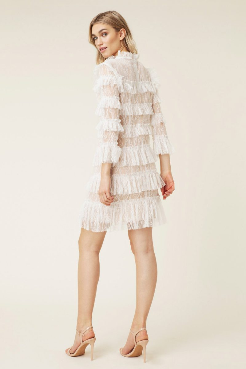 CARMINE MINI DRESS CLOUDY WHITE