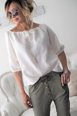 ELLA BLOUSE WHITE