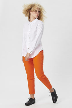 KISS SHIRT POPLIN WHITE SHORT
