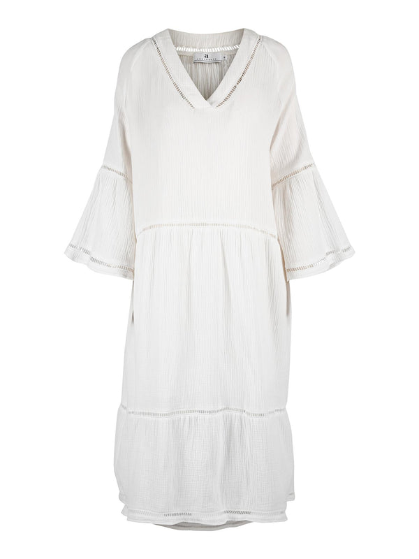 LUDIVINE GAUZE DRESS OFFWHITE