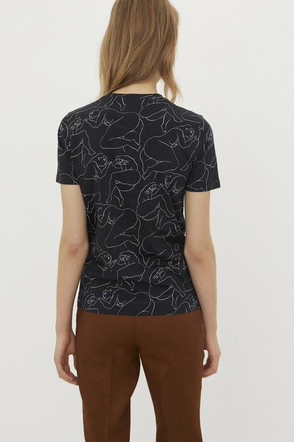 PRINTED T-SHIRT BLACK
