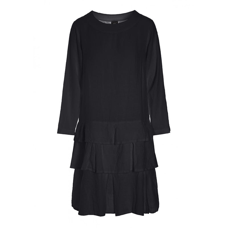 DRESS AIRY LINEN BLACK