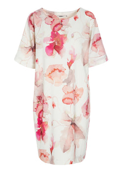 THE ARTIST SHIFT DRESS ROSE BLOSSOM