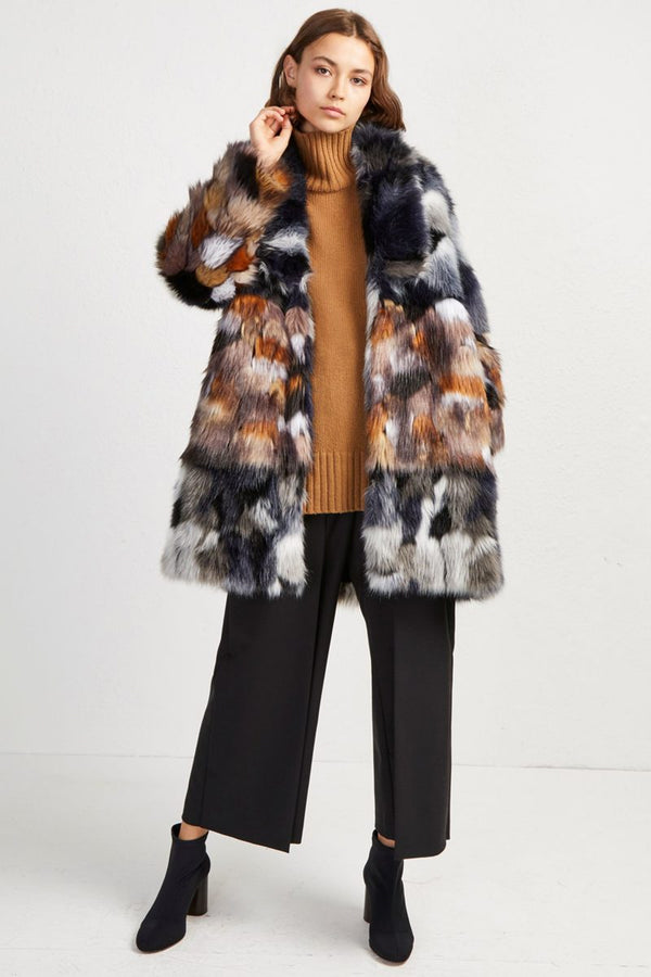GOLDA FAUX FUR COAT