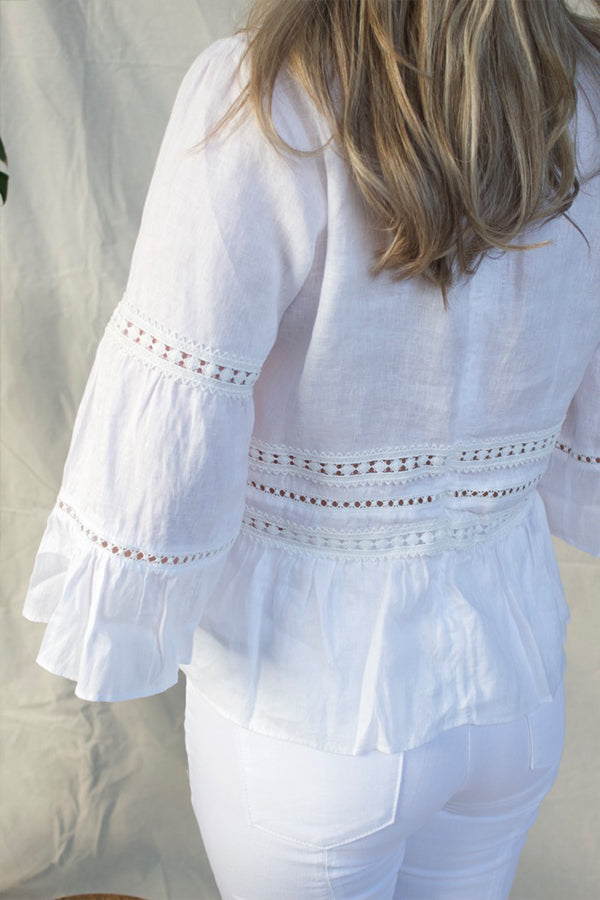 BELIZE LINEN BLOUSE