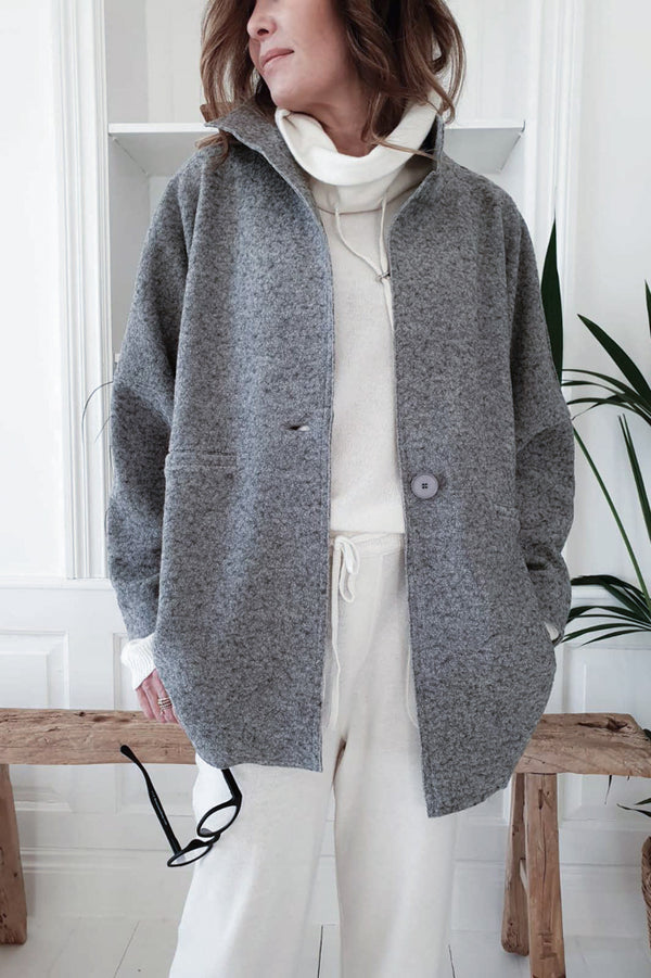 TRENCHY WOOL JACKET GREY