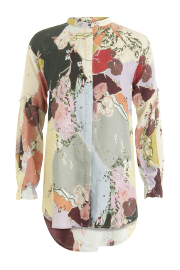 BLOUSE W.FRILL DETAIL AT CUFFS