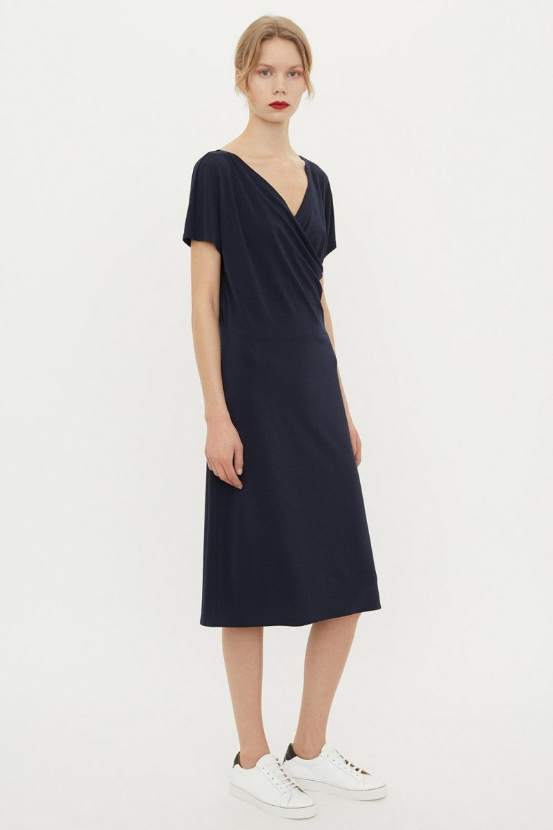 CREPE DRESS BLUE