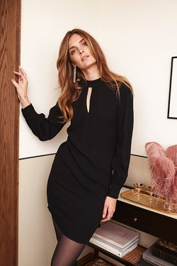 JONEIEN NIGHT DRESS BLACK