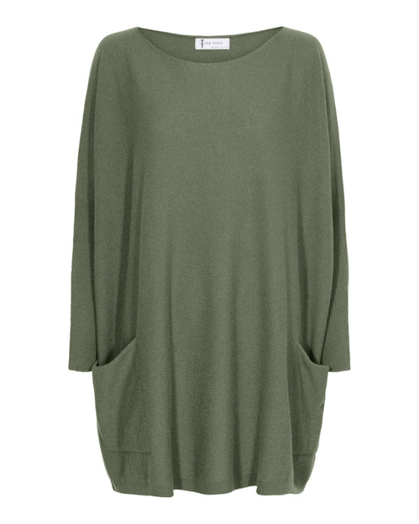 TTDK BAT BLOUSE OILGREEN