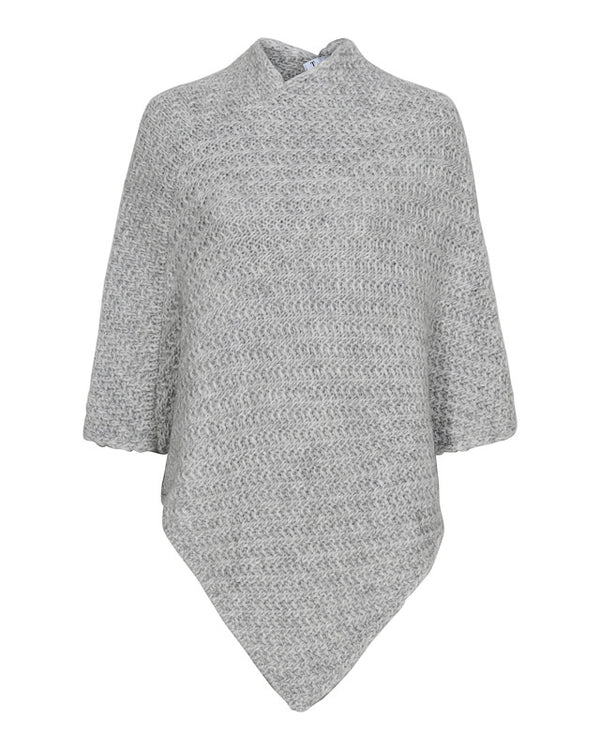 ILJA PONCHO LIGHT GREY