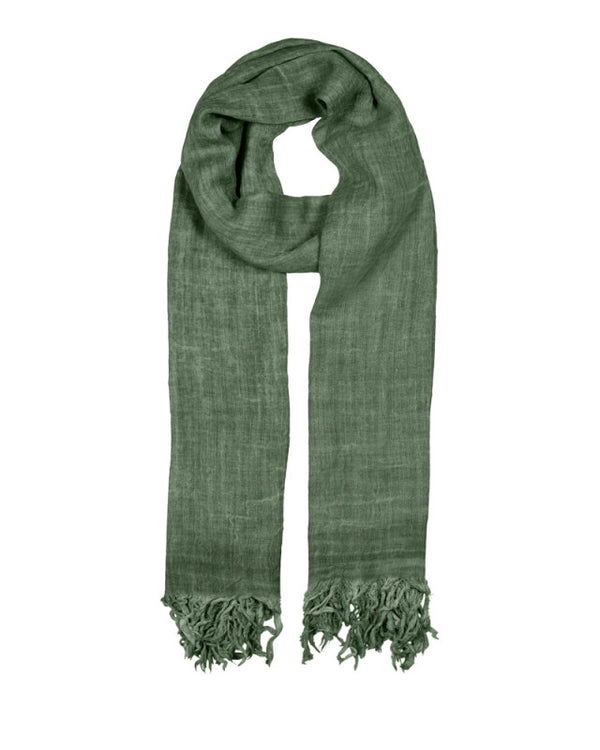 BASIC WOOL SCARF DILL
