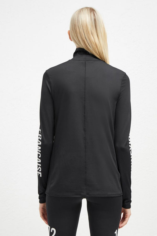HOLLIS HIGH NECK TOP BLACK