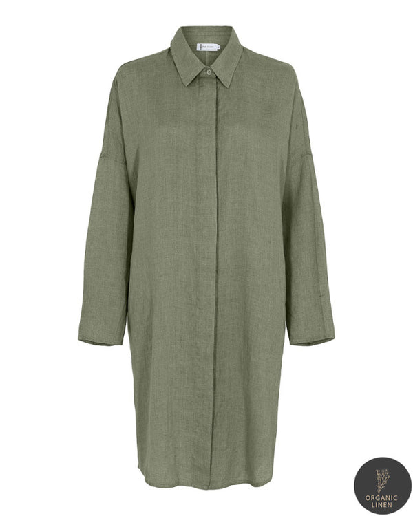 FALIANA OVERSIZE SHIRT OILGREEN