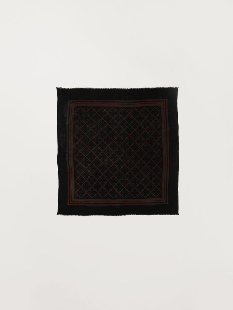 CORNELIS BROWN/BLACK SCARF