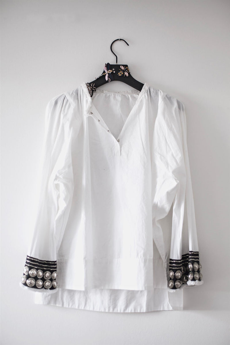 ETHNIC BLOUSE B WHITE