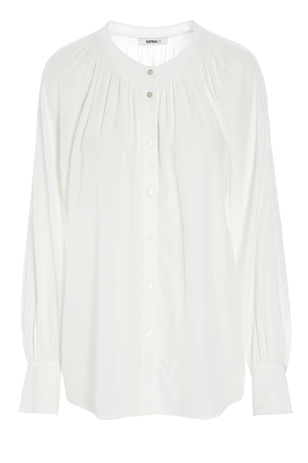 PARIS JACQ DOTS BLOUSE BROKEN WHITE