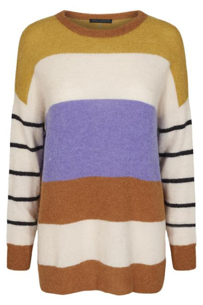 MEDITION STRIPED PULLOVER
