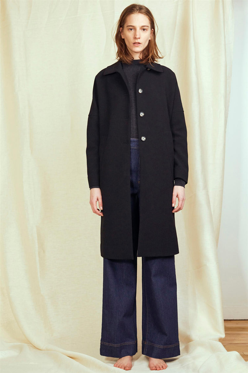 COCOON OVERCOAT BLACK