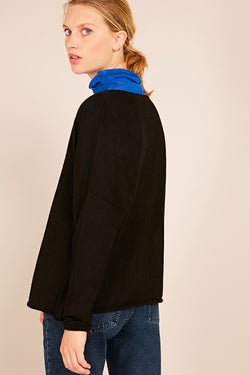 PULL ML COL ROND NOIR