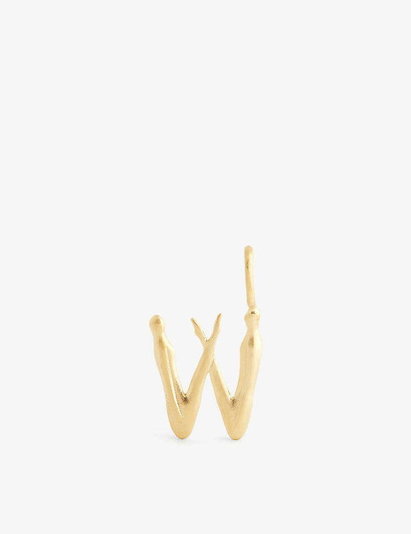 NUDE ALPHABET GOLD SMALL W