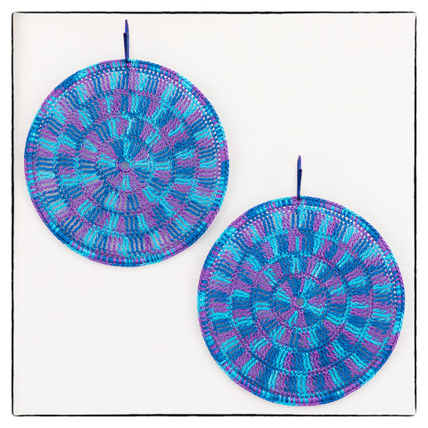 Victoria Large Round Statement Earrings 7cm