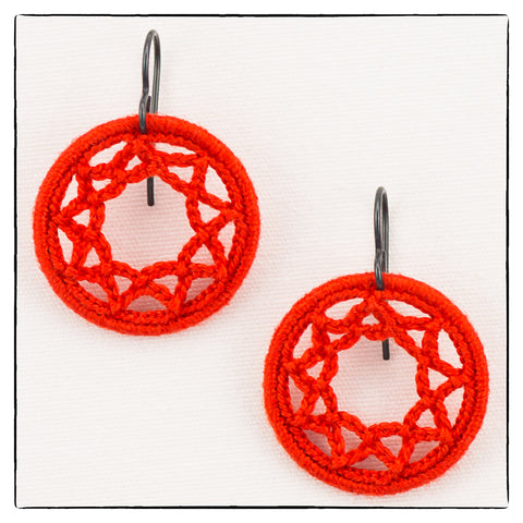 Amy Small Round Earrings 2.5cm