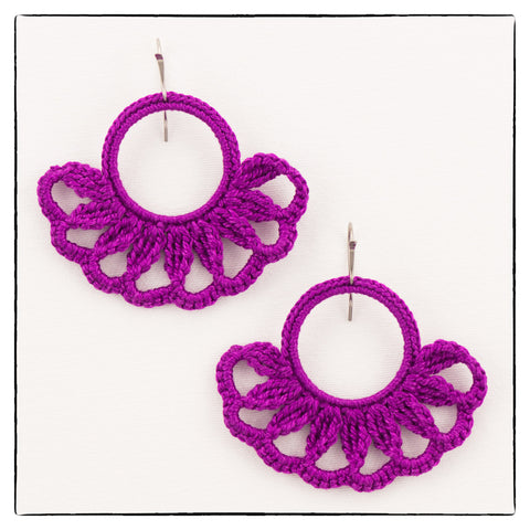 Emma Medium/Large Size Earrings 4.5 x 5.5cm