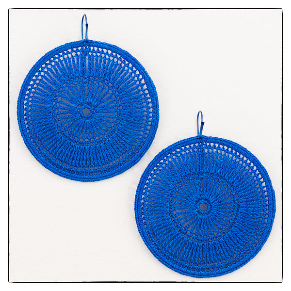 Florence Large Round Earrings 7cm