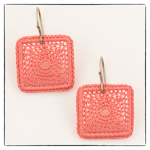 Kate Small Square Earrings 2cm