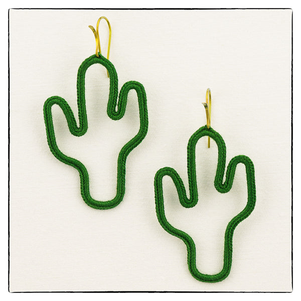 Cactus Medium/ Large Size Earrings 5cm