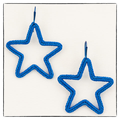 Astra Large Star Shape Earrings 4.5cm