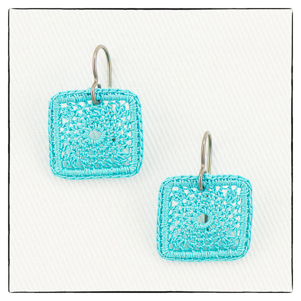 Kate Mini Small Square Earrings 1.8cm